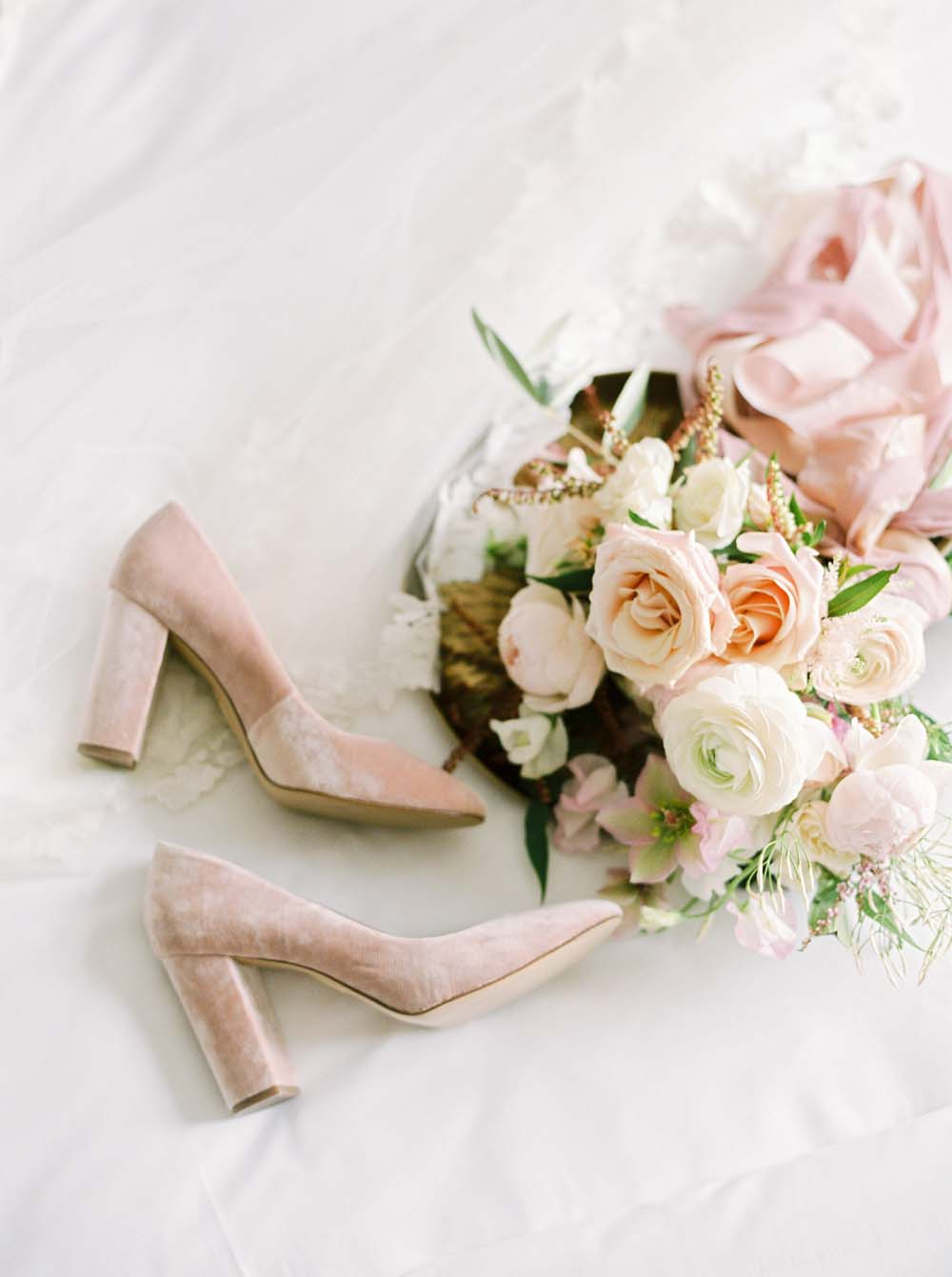 a timeless, romantic wedding in vancouver - bridal shoes
