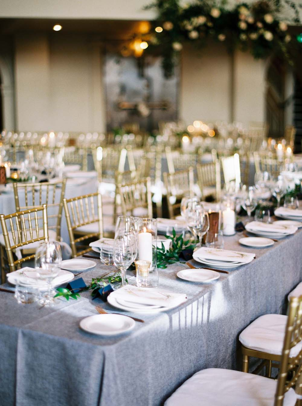 a timeless, romantic wedding in vancouver - reception decor