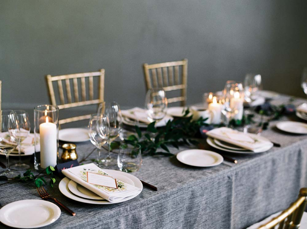 a timeless, romantic wedding in vancouver - tablescape