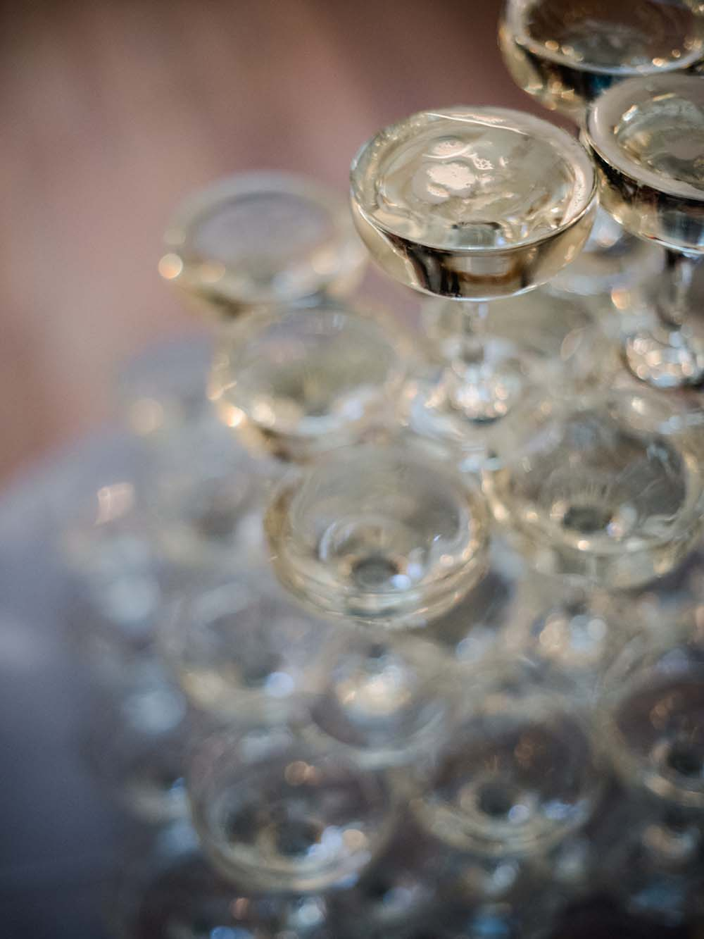 a timeless, romantic wedding in vancouver - champagne tower