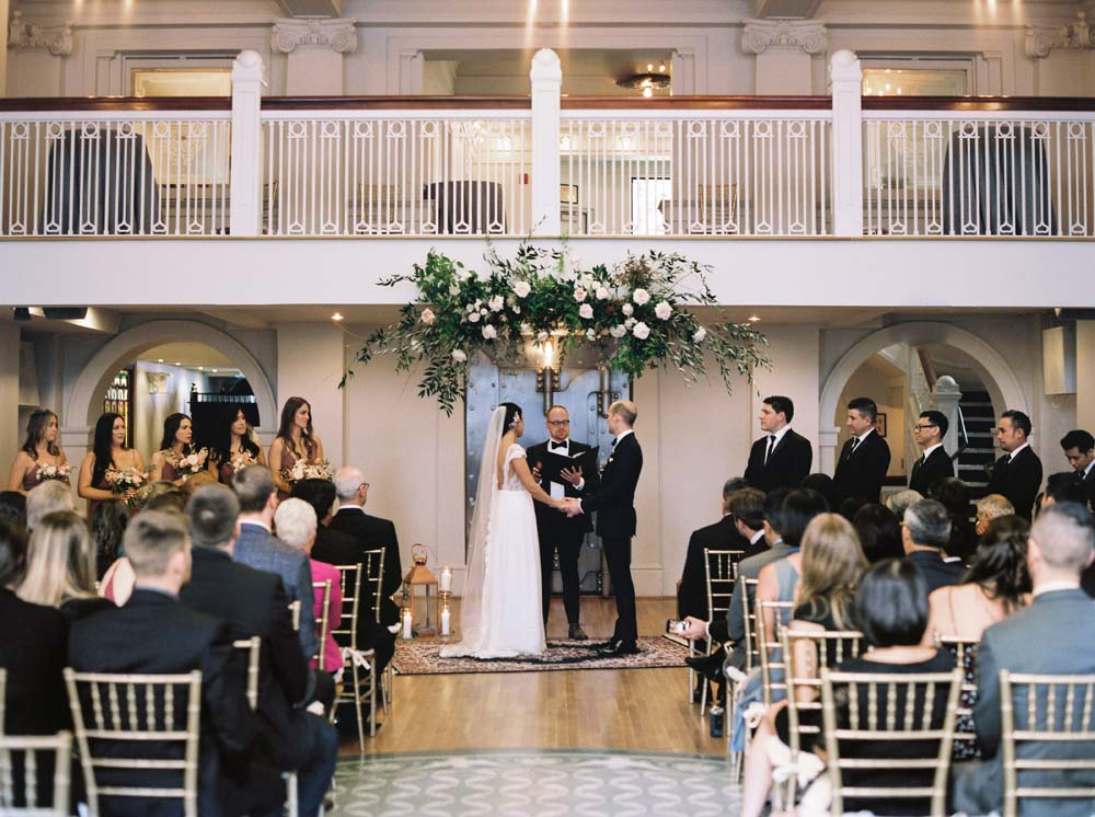 a timeless, romantic wedding in vancouver - ceremony