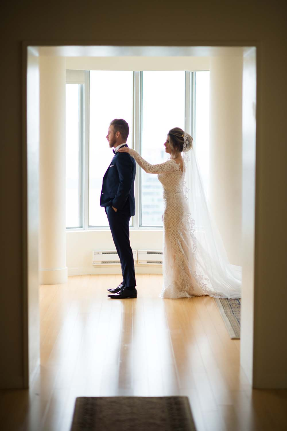 A Classic Vintage inspired Wedding at the One King West in Toronto - Bride and Groom