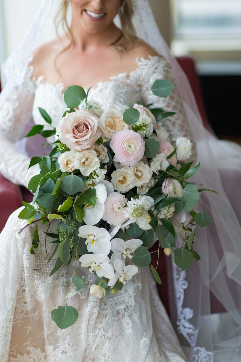 A Classic Vintage inspired Wedding at the One King West in Toronto - Bride with Bouquet