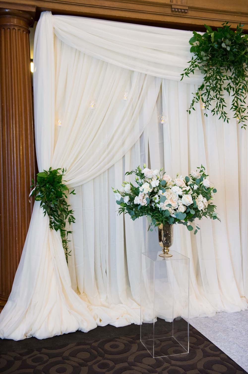 A Classic Vintage inspired Wedding at the One King West in Toronto - Wall Decor