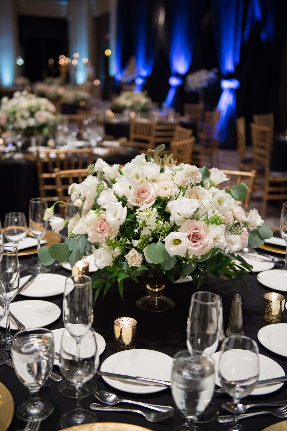 A Classic Vintage inspired Wedding at the One King West in Toronto - Table Centrepieces