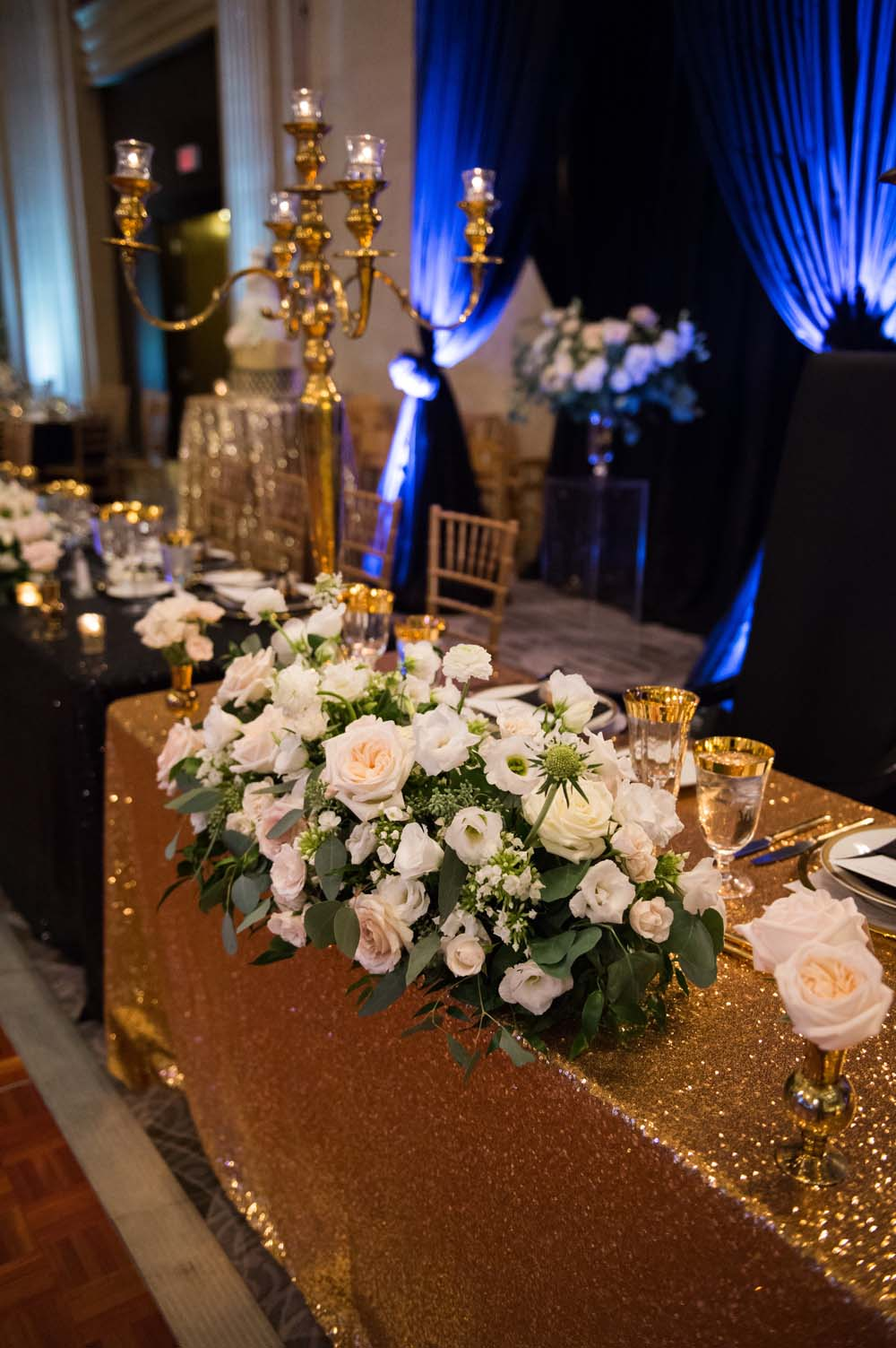 A Classic Vintage inspired Wedding at the One King West in Toronto - Head Table Display