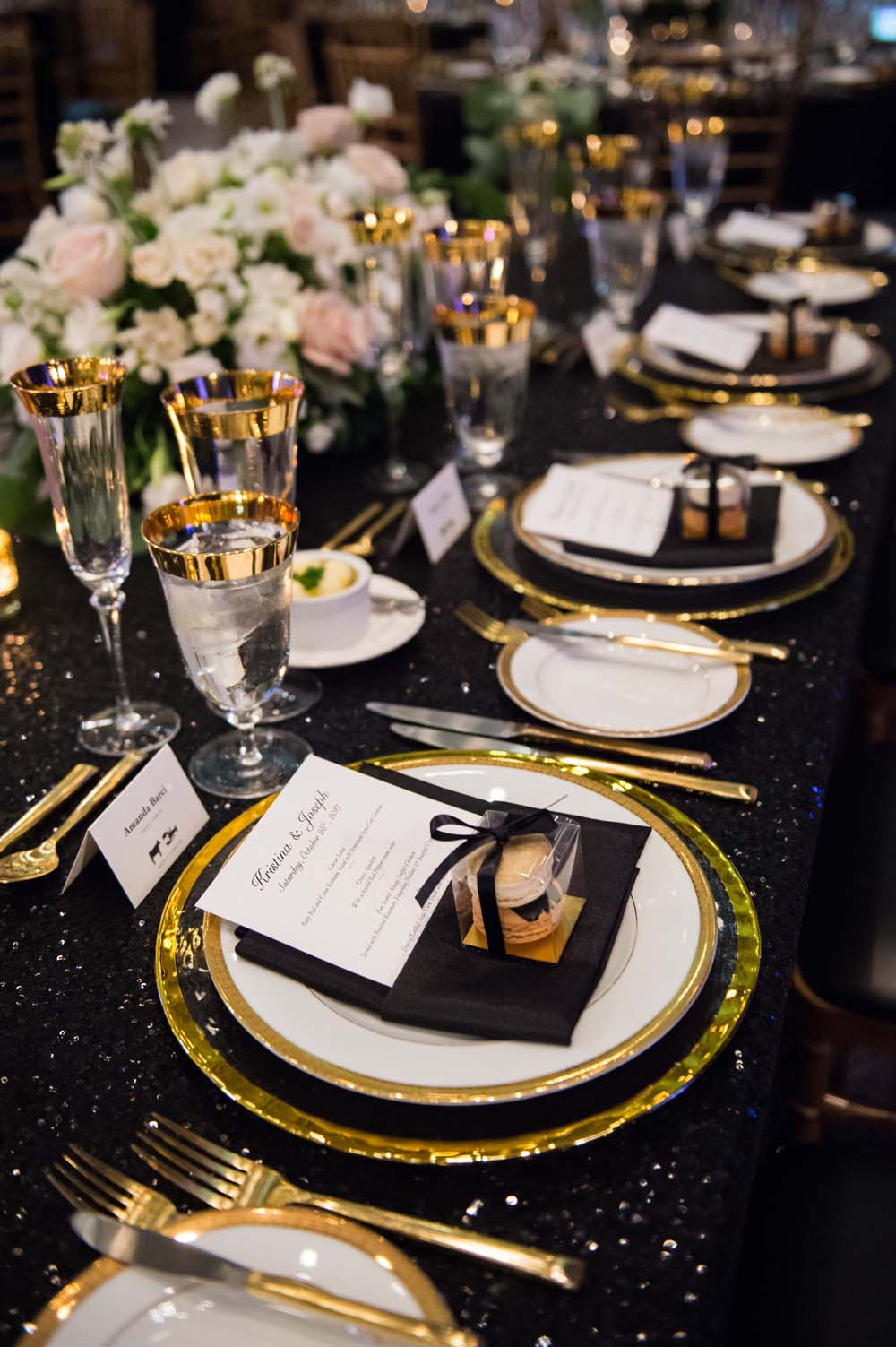 A Classic Vintage inspired Wedding at the One King West in Toronto - Place Settings