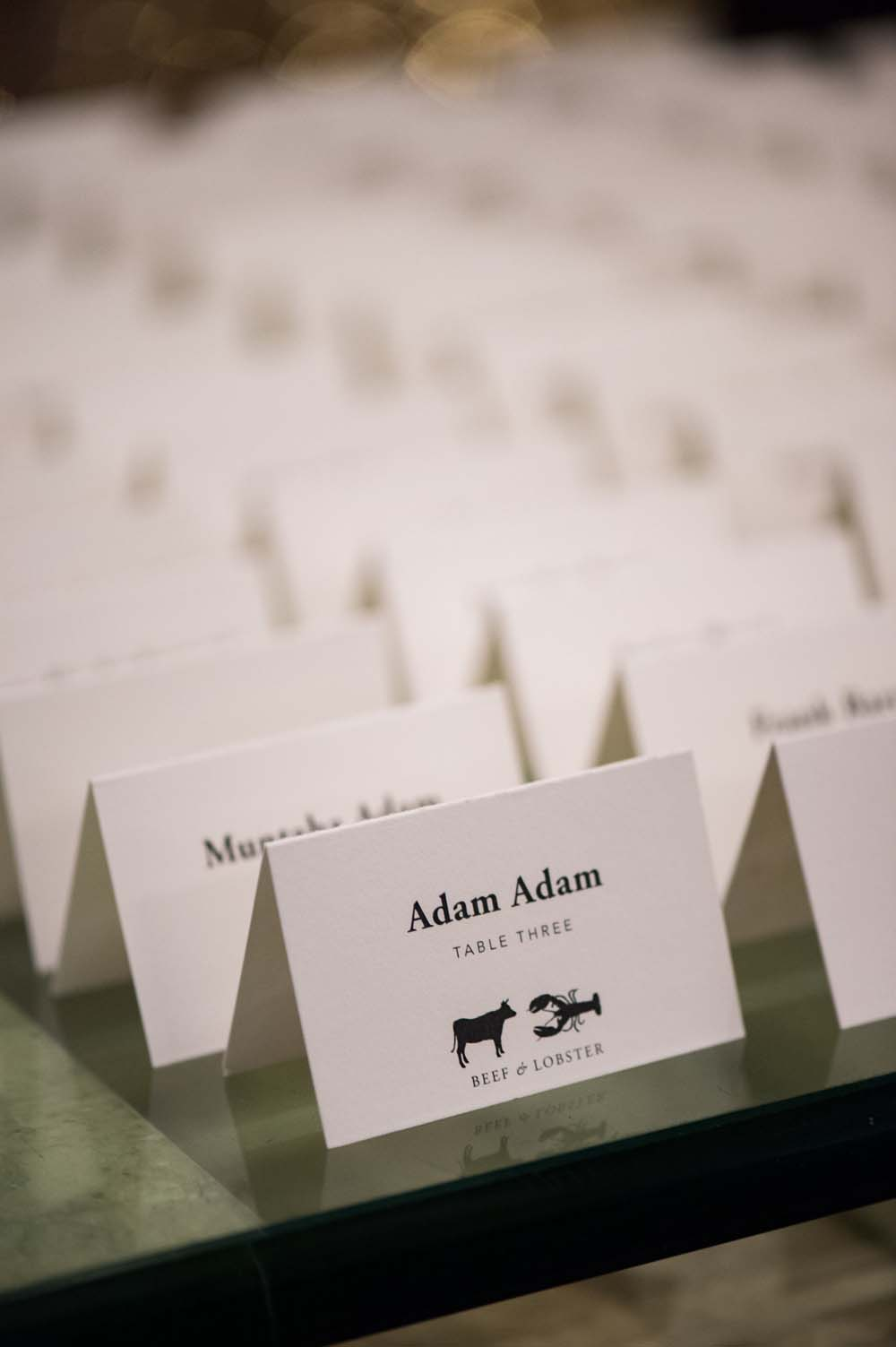 A Classic Vintage inspired Wedding at the One King West in Toronto - Place Cards