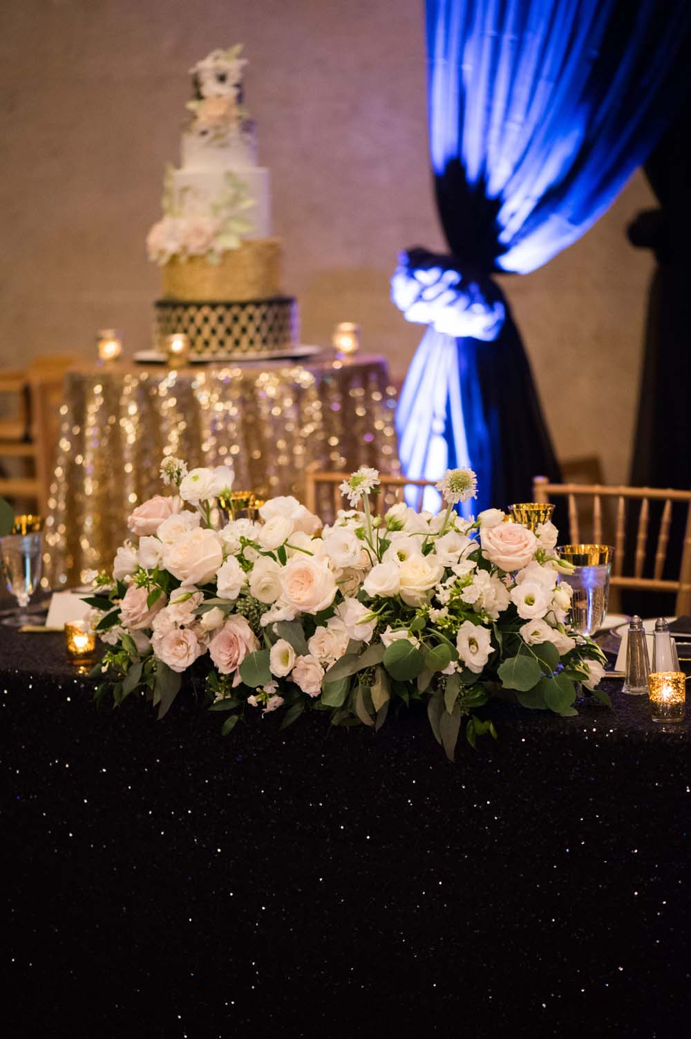 A Classic Vintage inspired Wedding at the One King West in Toronto - Table Floral Arrangement