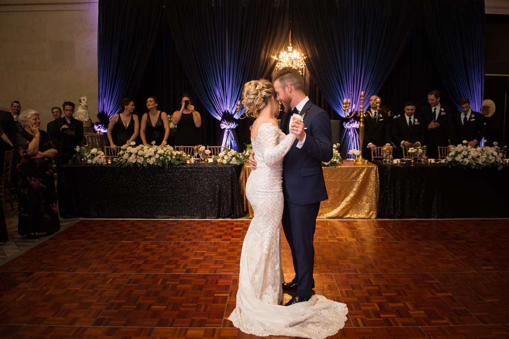 A Classic Vintage inspired Wedding at the One King West in Toronto - Bride and Groom Dancing