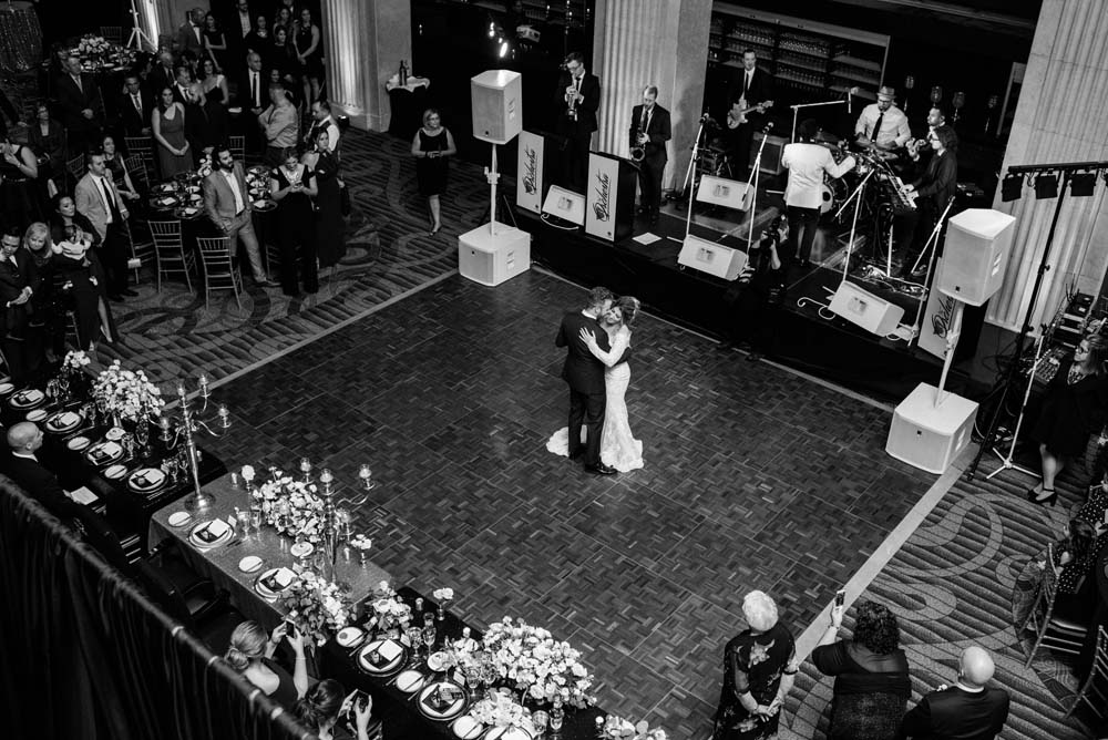 A Classic Vintage inspired Wedding at the One King West in Toronto - Band and Dancing Couple