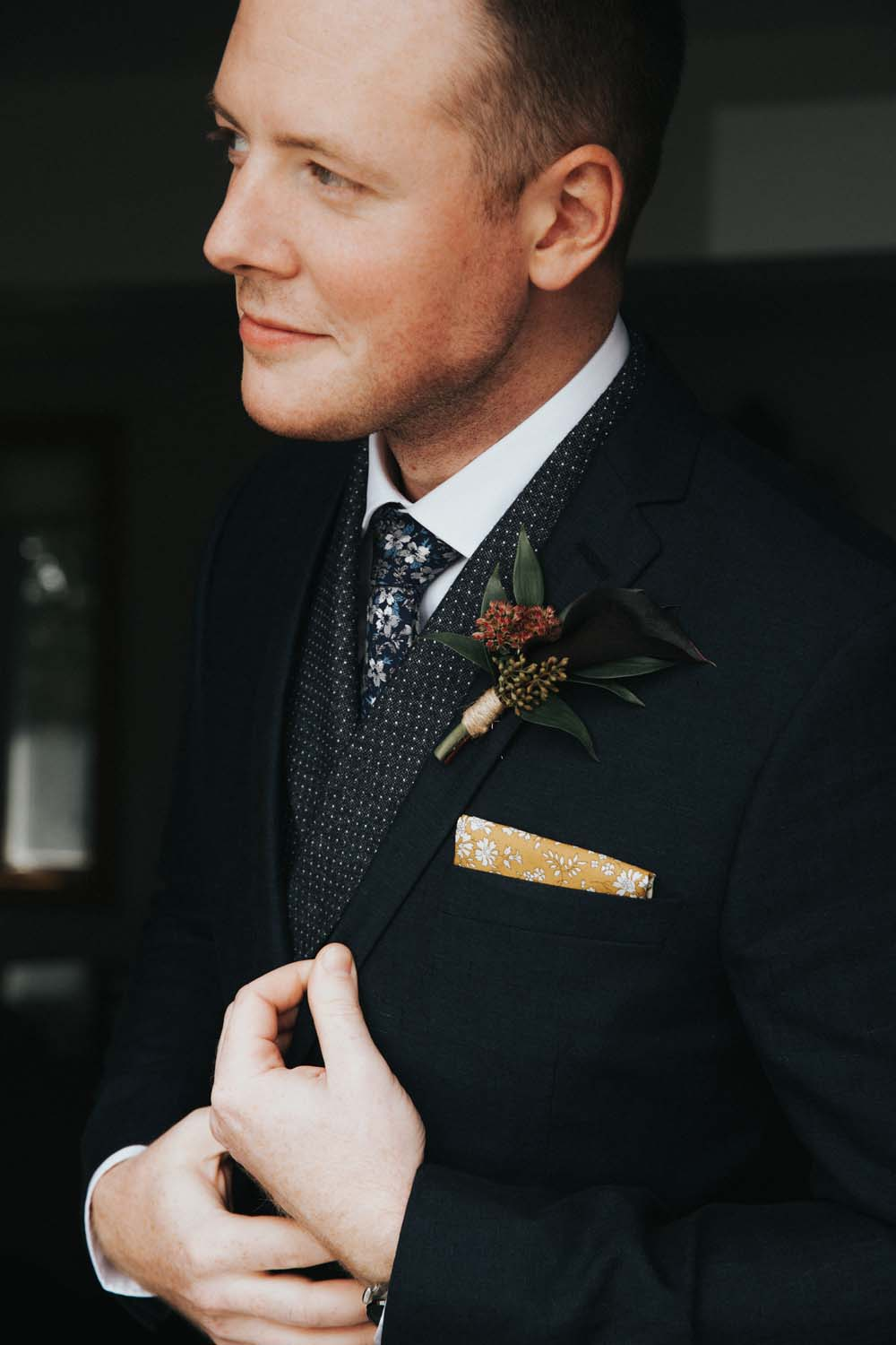 A magical fall wedding in Prince Edward County - Suit details