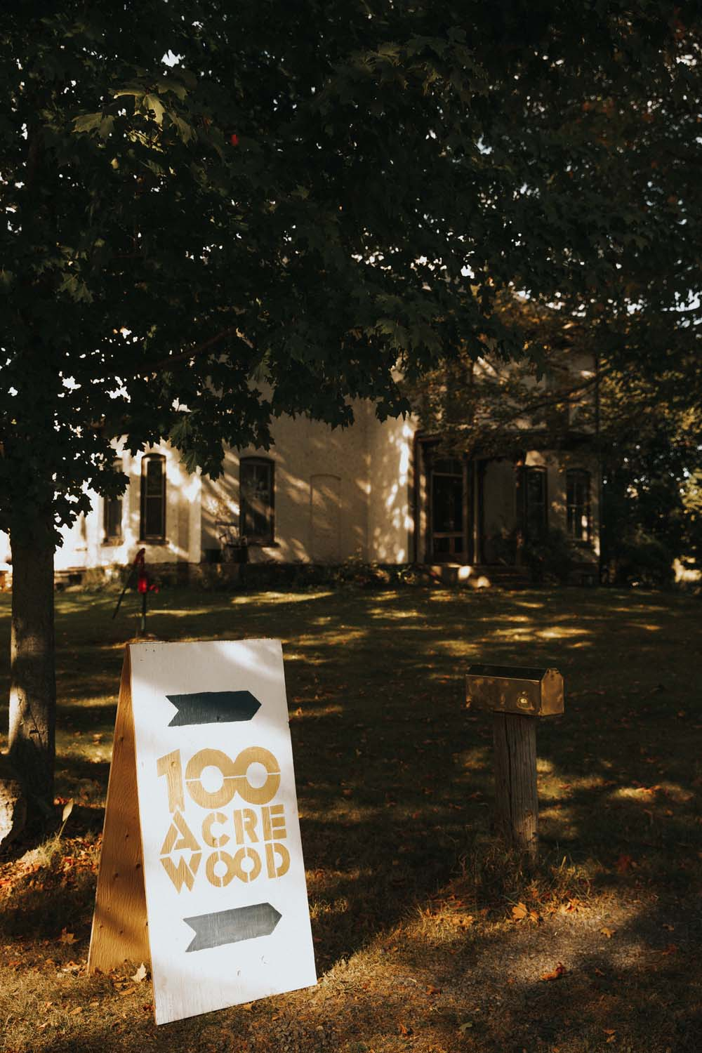 A magical fall wedding in Prince Edward County - Venue sign
