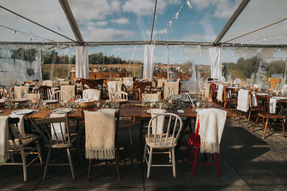 A magical fall wedding in Prince Edward County - Reception space