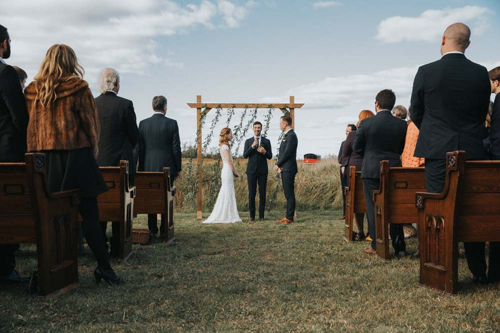A magical fall wedding in Prince Edward County - Ceremony