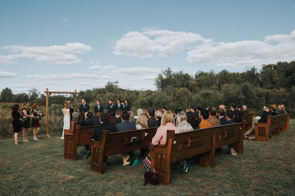 A magical fall wedding in Prince Edward County - Ceremony space