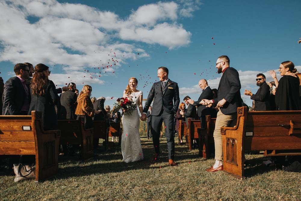 A magical fall wedding in Prince Edward County - Just married