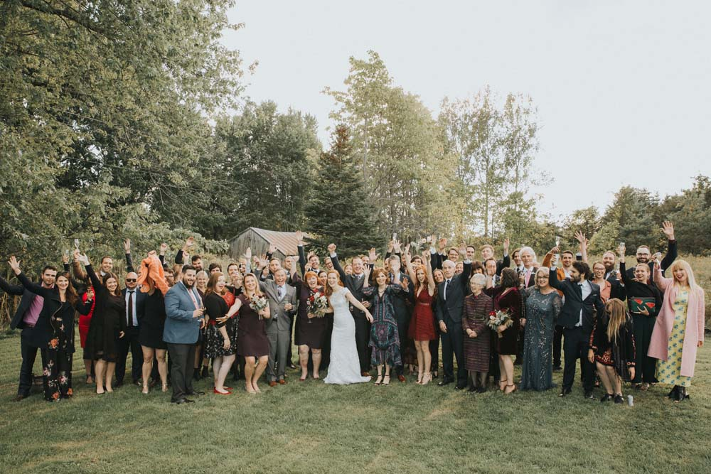 A magical fall wedding in Prince Edward County - Wedding guests