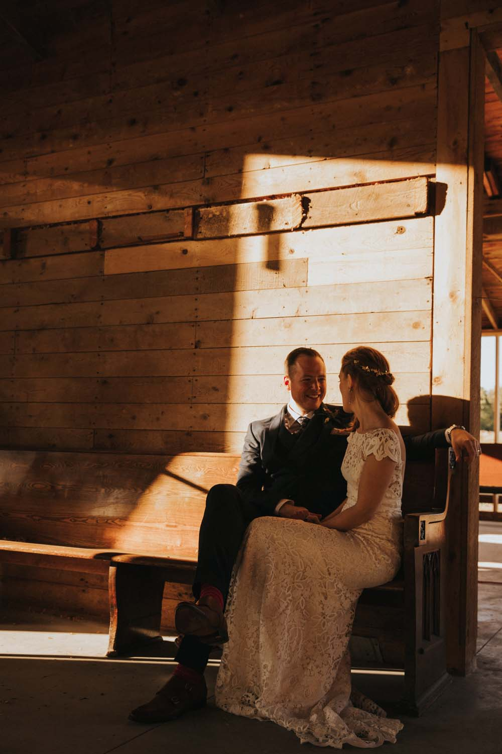 A magical fall wedding in Prince Edward County - Bride and groom