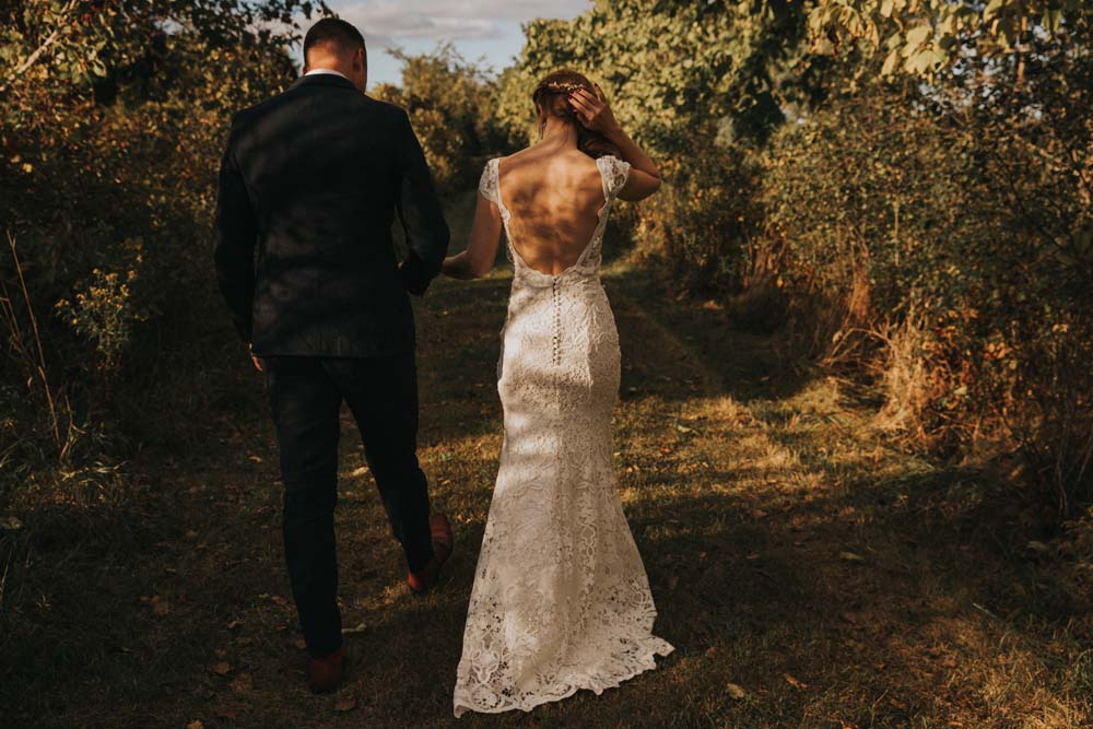A magical fall wedding in Prince Edward County - Dress details
