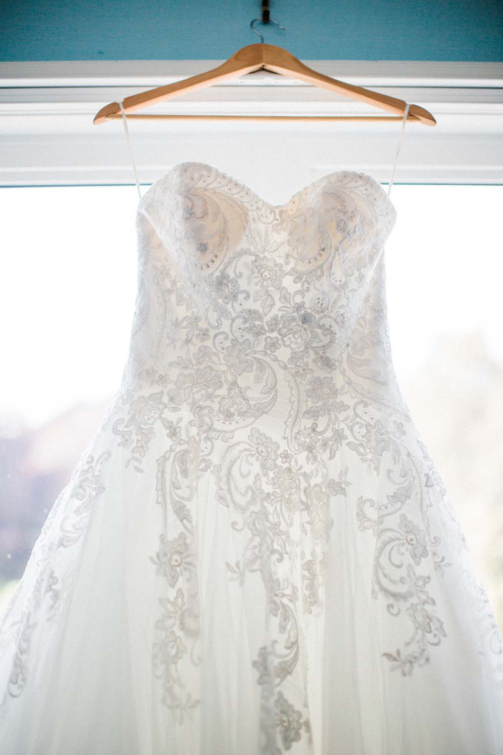 A Rustic, Whimsical Wedding in Tottenham - Gown details