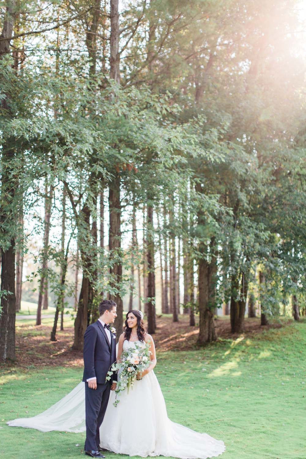 A Rustic, Whimsical Wedding in Tottenham - Couple outside