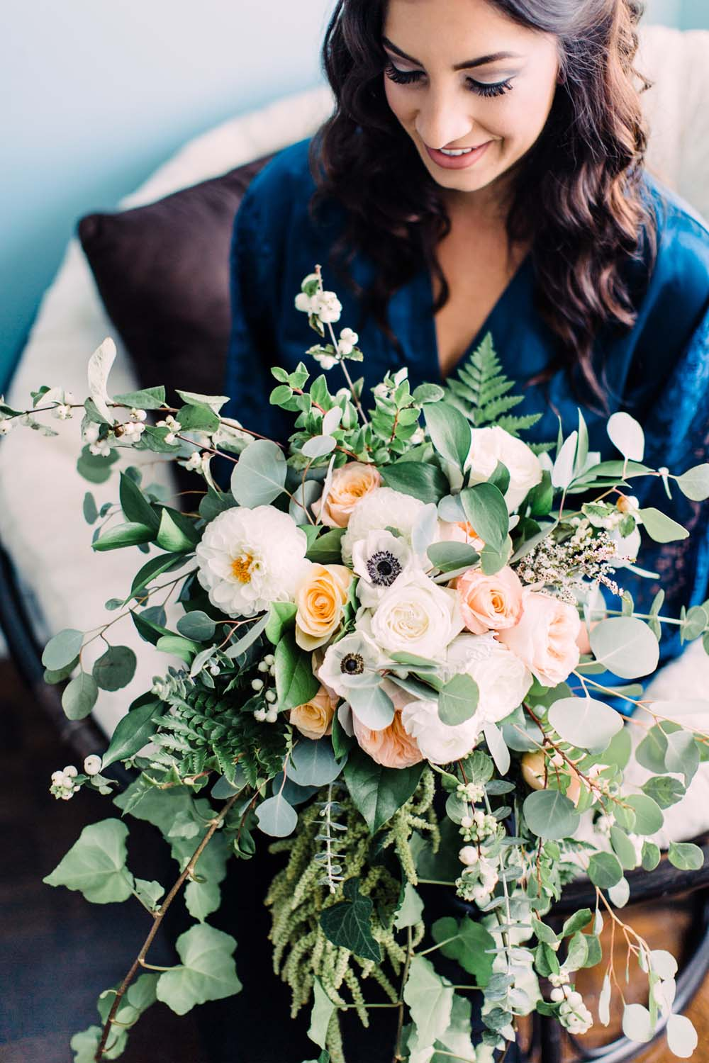 A Rustic, Whimsical Wedding in Tottenham - Bride and bouquet