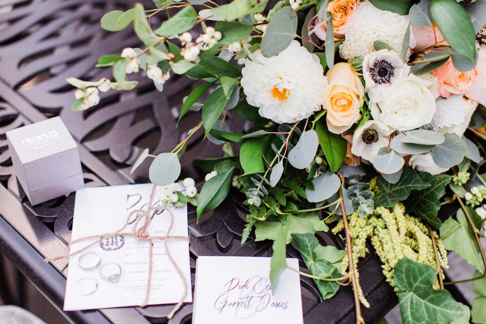 A Rustic, Whimsical Wedding in Tottenham - Stationery and flowers