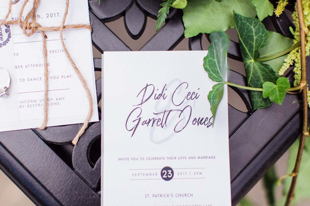 A Rustic, Whimsical Wedding in Tottenham - Stationery details