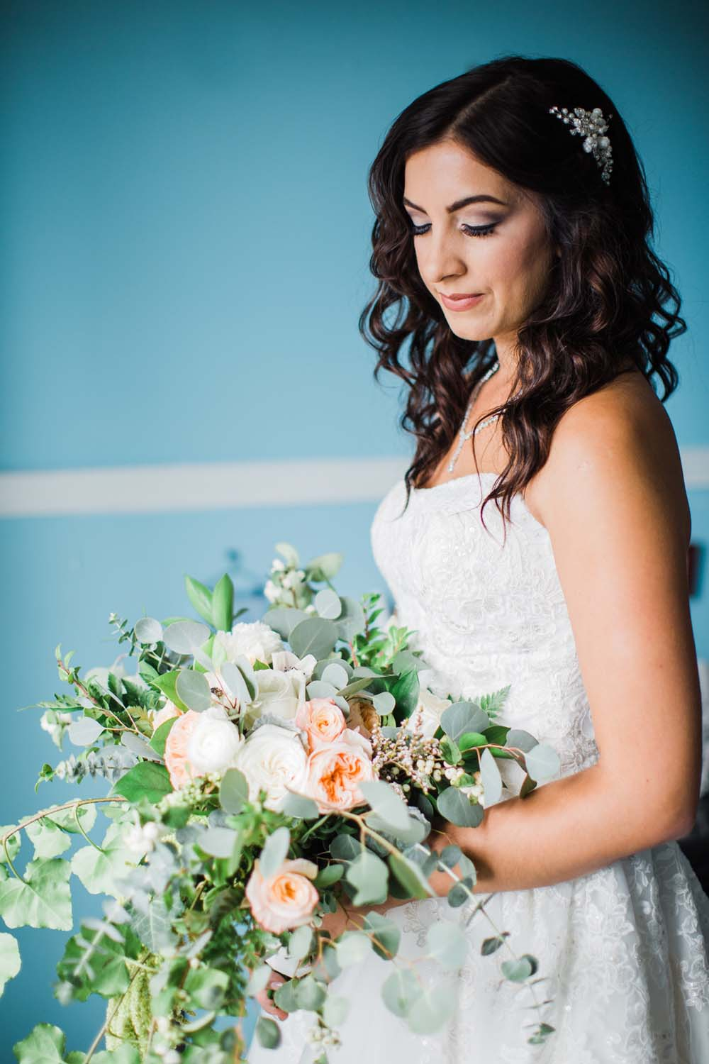 A Rustic, Whimsical Wedding in Tottenham - Makeup and bouquet details