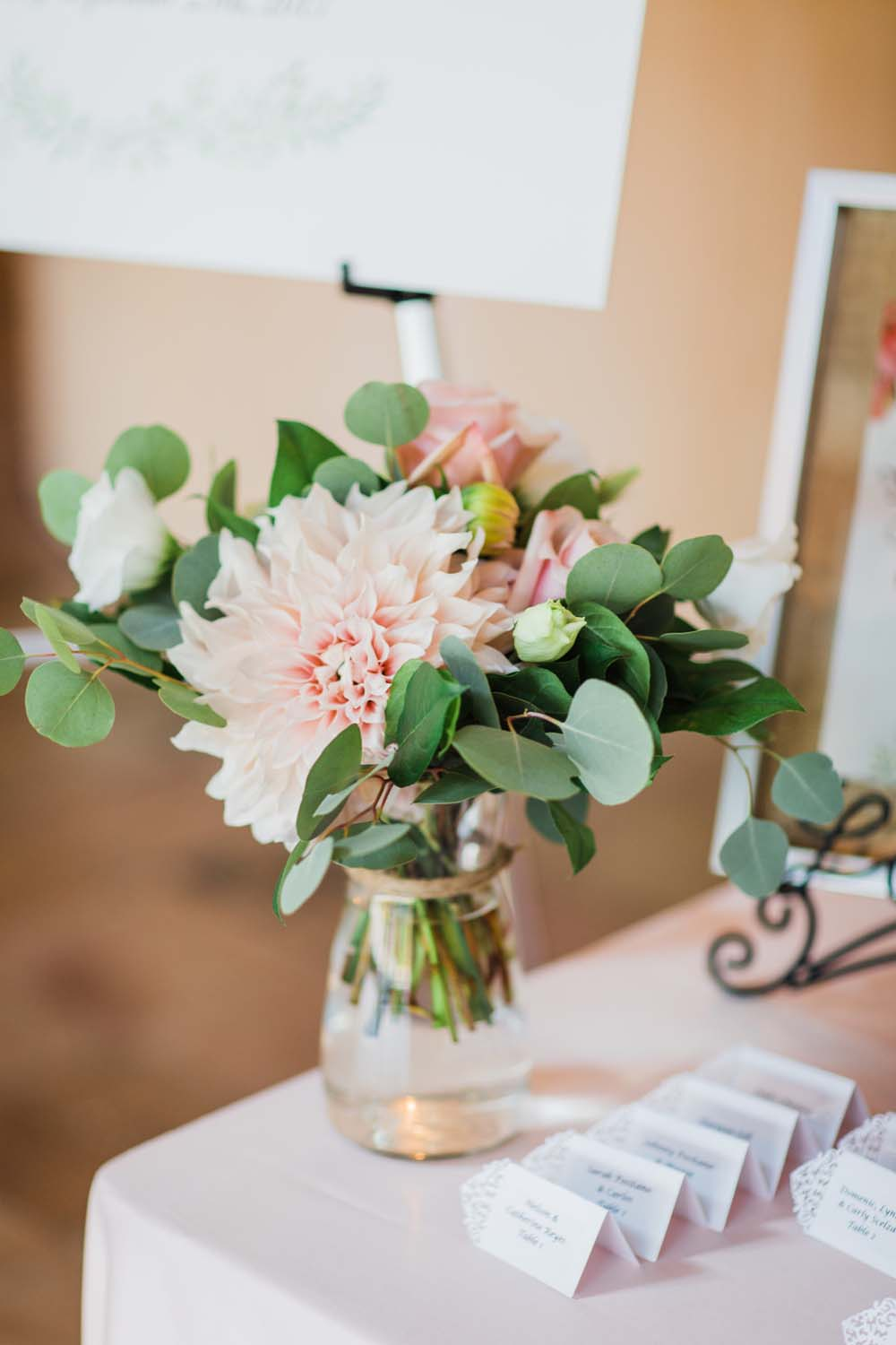 A Rustic, Whimsical Wedding in Tottenham - Floral decor