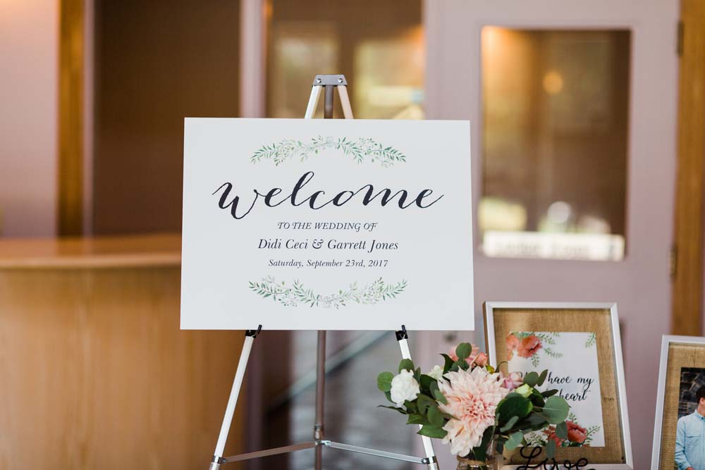 A Rustic, Whimsical Wedding in Tottenham - Reception sign