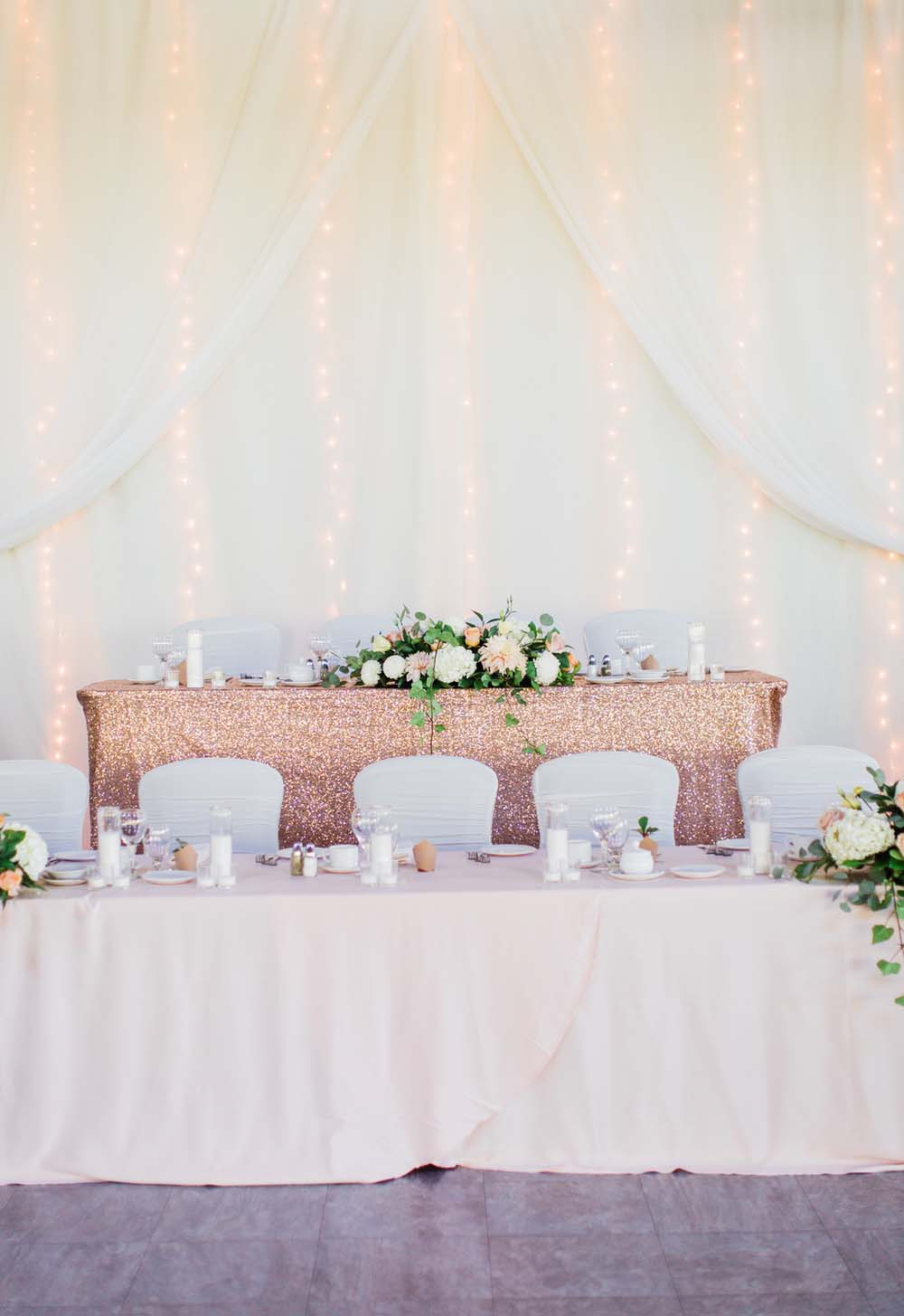 A Rustic, Whimsical Wedding in Tottenham - Head table