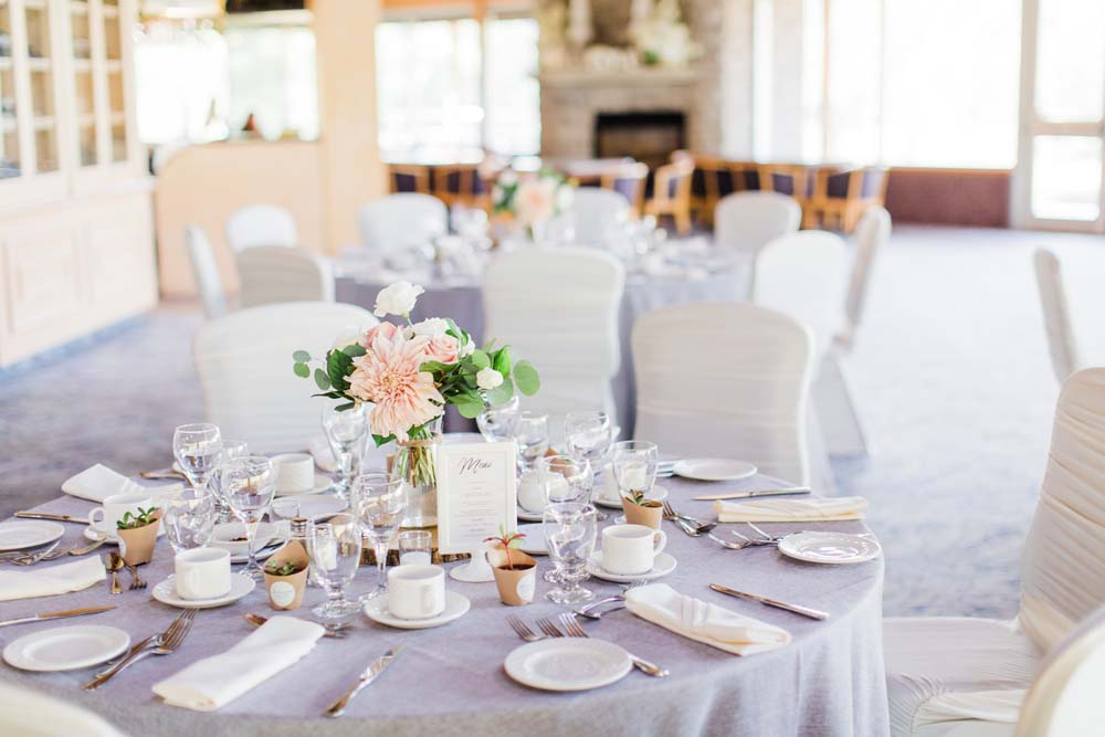 A Rustic, Whimsical Wedding in Tottenham - Table setting