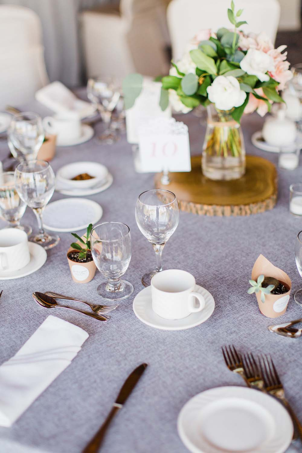 A Rustic, Whimsical Wedding in Tottenham - Table details