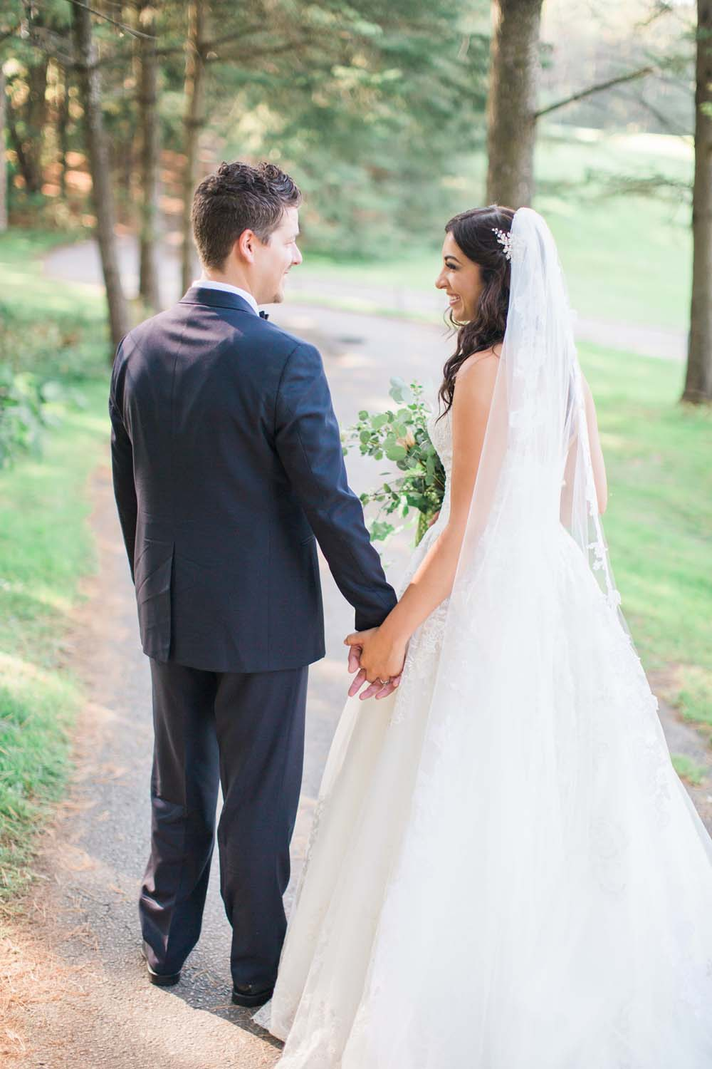 A Rustic, Whimsical Wedding in Tottenham - Holding hands