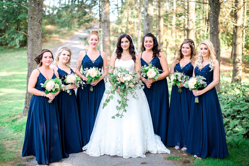 A Rustic, Whimsical Wedding in Tottenham - Bride and bridesmaids