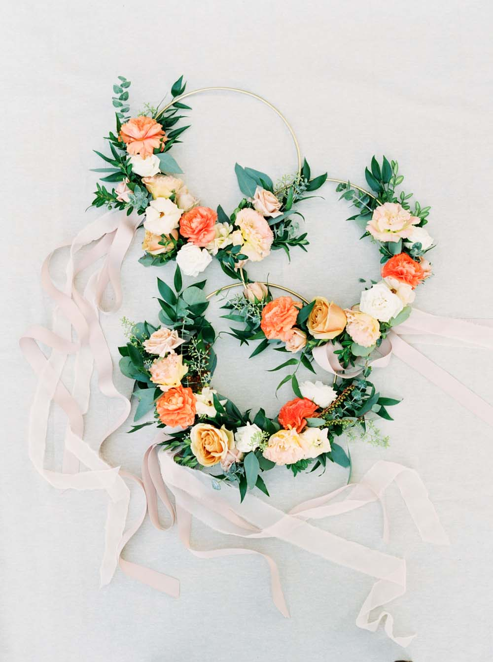 A Floral Peach Celebration in St. David's, Ontario - Floral rings