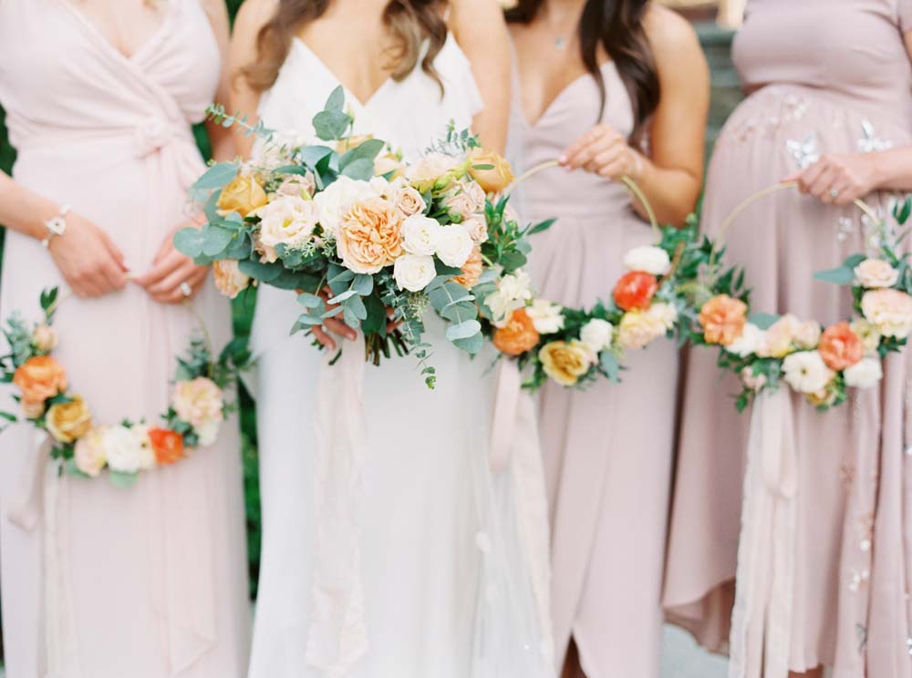 A Floral Peach Celebration in St. David's, Ontario - Bouquets