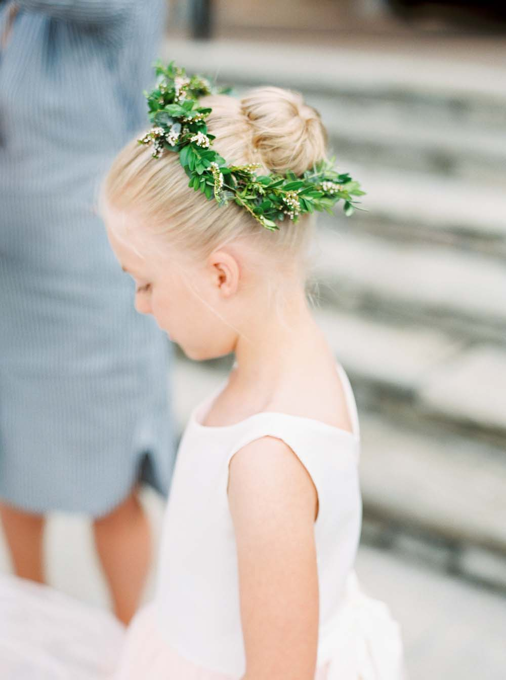 A Floral Peach Celebration in St. David's, Ontario - Flower Girl