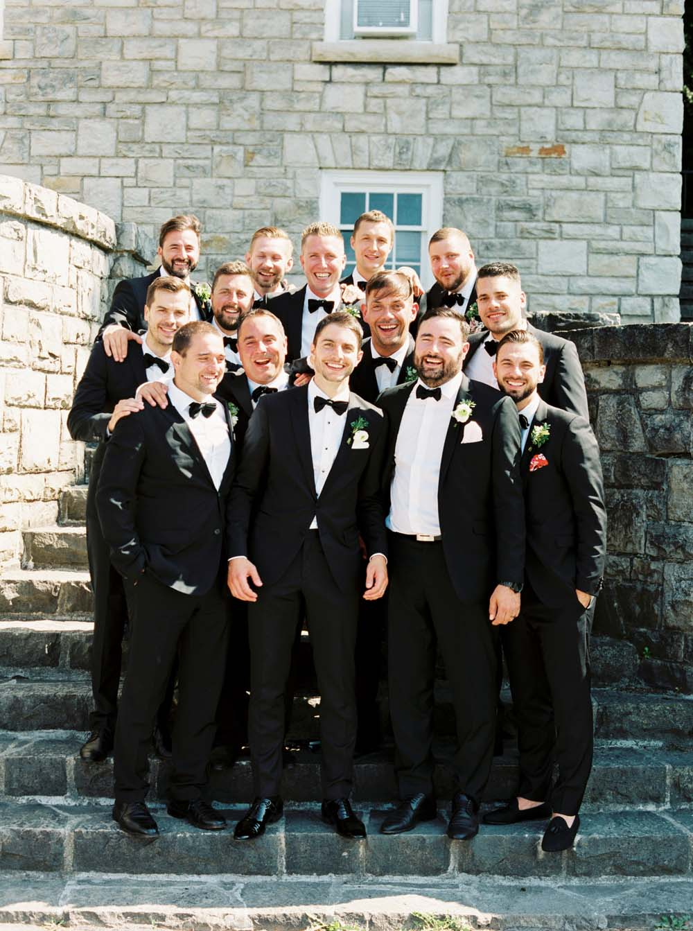 A Floral Peach Celebration in St. David's, Ontario - Groomsmen