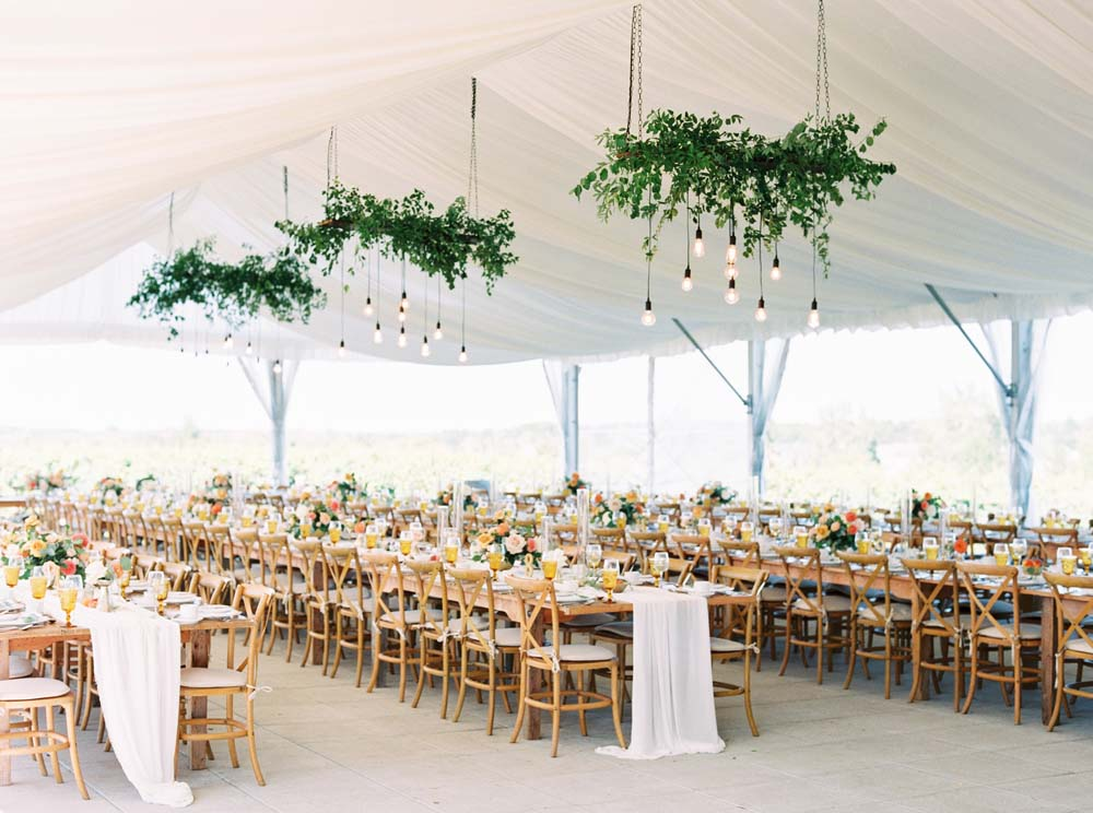 A Floral Peach Celebration in St. David's, Ontario - Tent