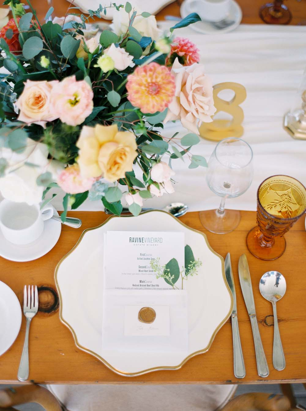 A Floral Peach Celebration in St. David's, Ontario - Menu