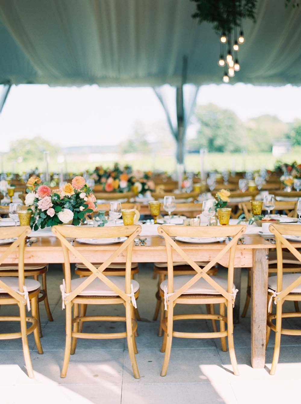 A Floral Peach Celebration in St. David's, Ontario - Seating