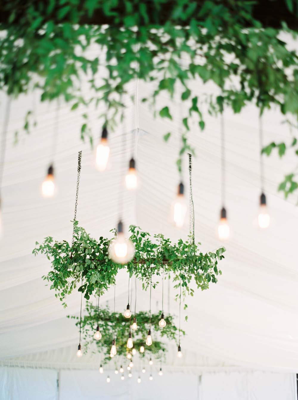 A Floral Peach Celebration in St. David's, Ontario - Chandeliers