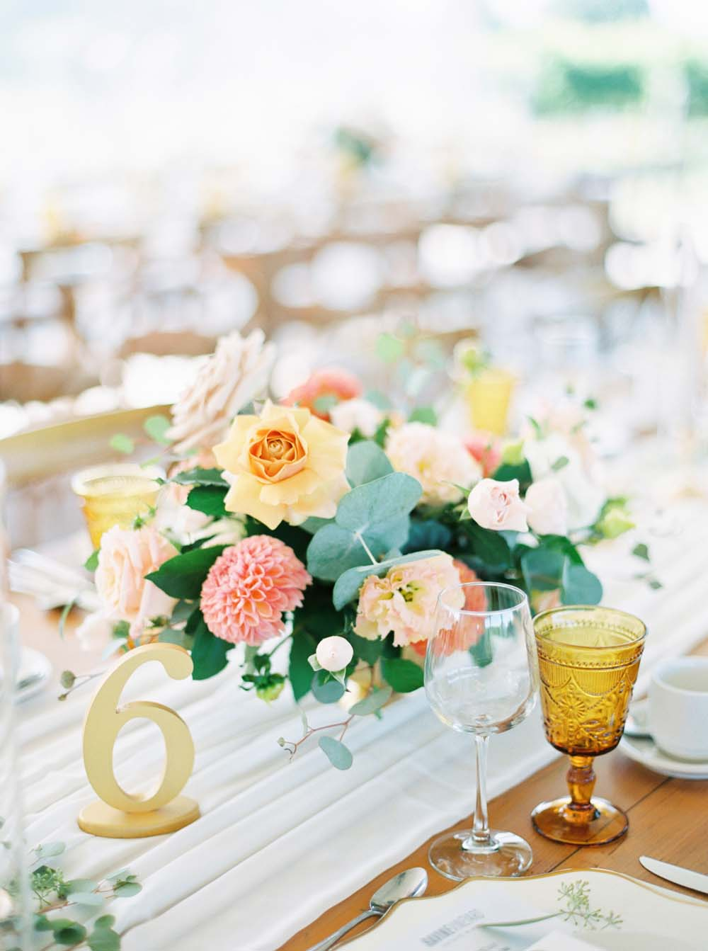 A Floral Peach Celebration in St. David's, Ontario - Table 6