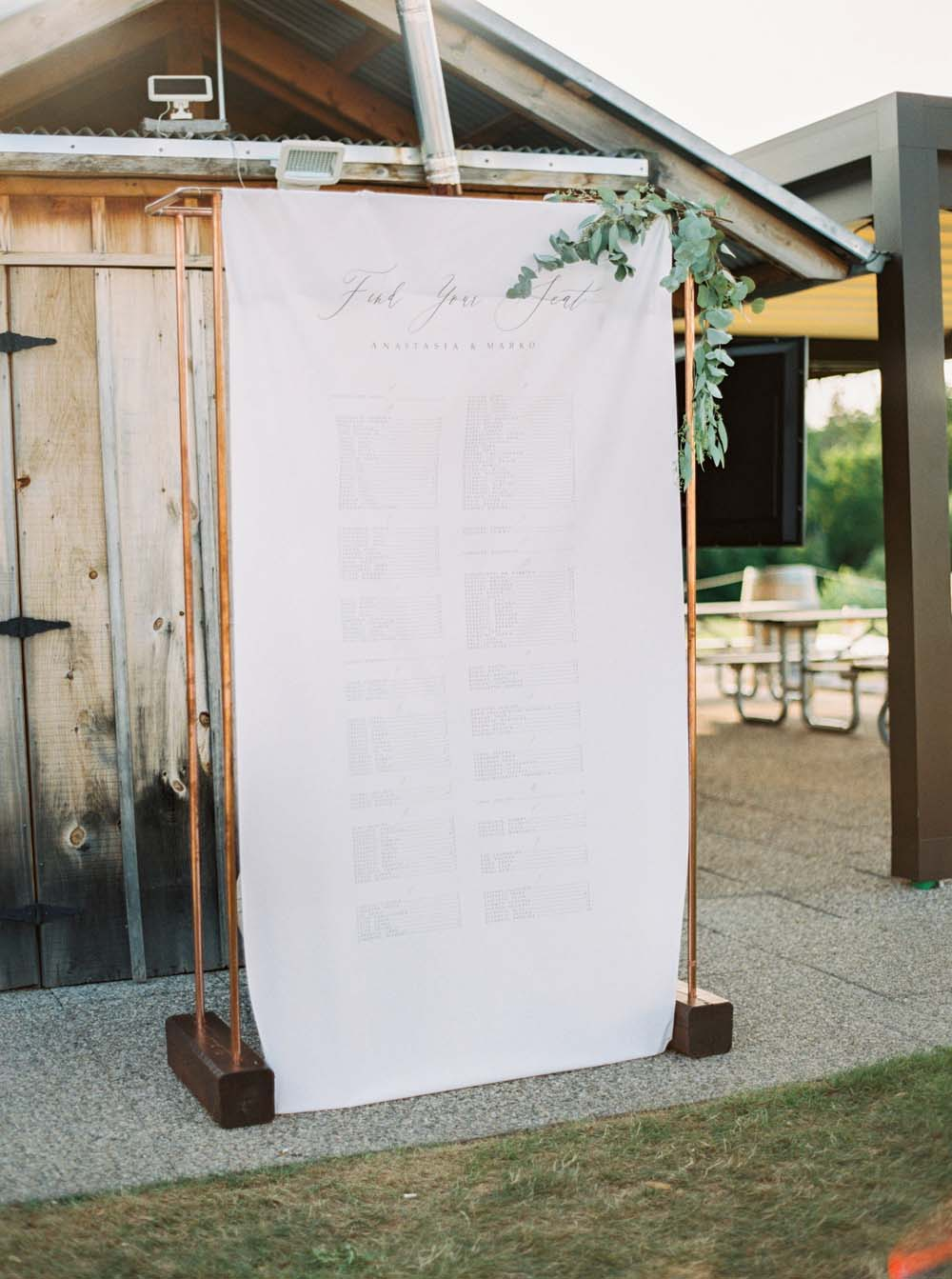 A Floral Peach Celebration in St. David's, Ontario - Seating Chart
