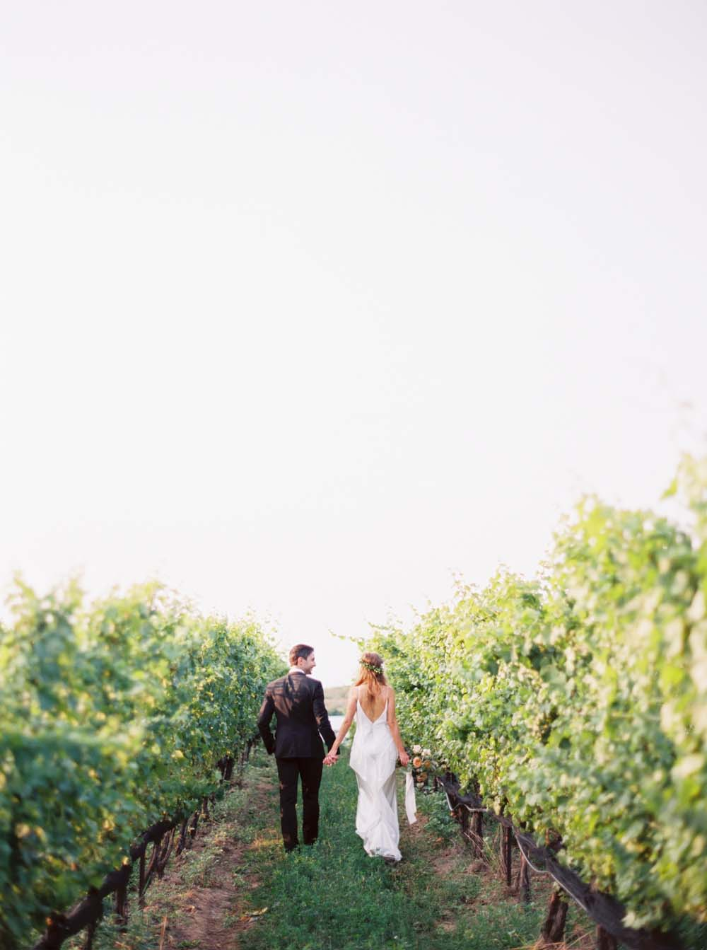 A Floral Peach Celebration in St. David's, Ontario - Vineyard