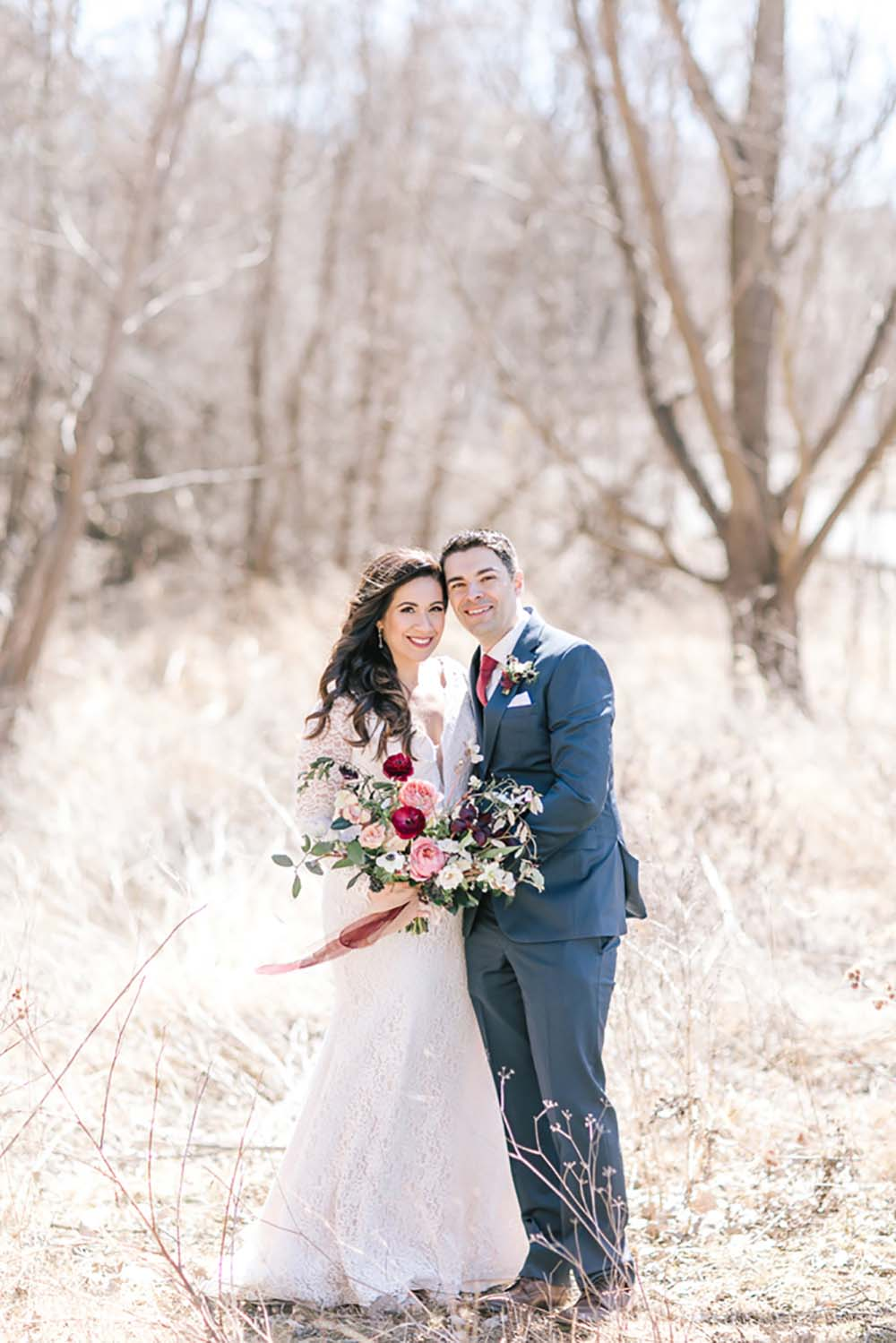 A Rustic Glam Wedding in Vaughan, Ontario - Couple