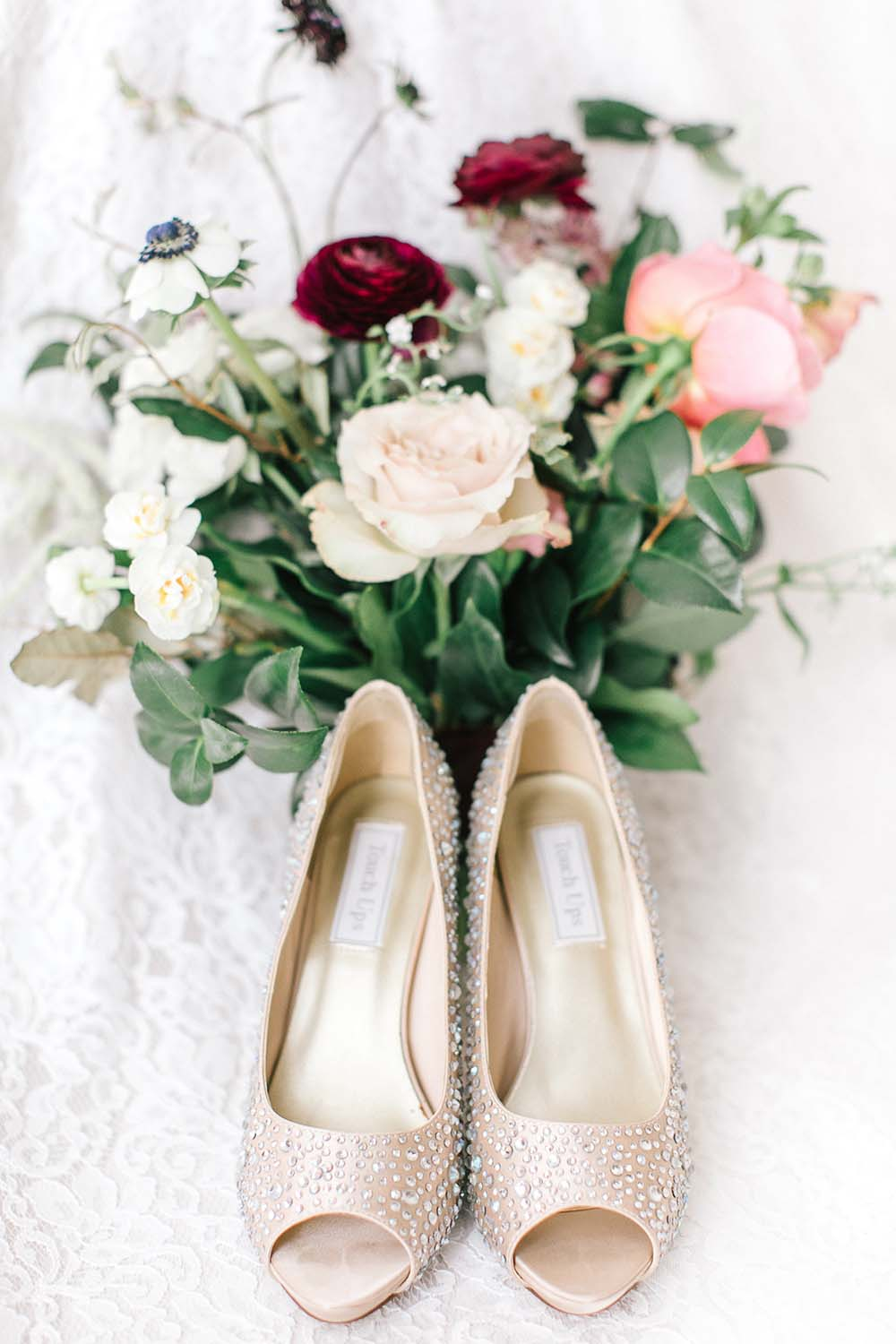 A Rustic Glam Wedding in Vaughan, Ontario - Shoes and Bouquet